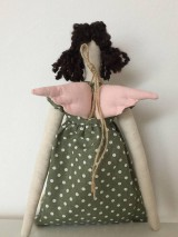Bábiky - ZĽAVA !! anjelka v zelených šatách - 9201659_