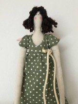 Bábiky - ZĽAVA !! anjelka v zelených šatách - 9201660_