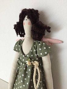Bábiky - anjelka v zelených šatách - 9201656_