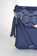 Kabelky - Modrotlačová kabelka Dara modrá 1 - 9203344_
