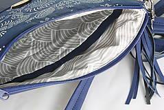 Kabelky - Modrotlačová kabelka Dara modrá 1 - 9203347_