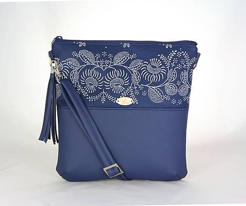 Modrotlačová kabelka Dara modrá 1