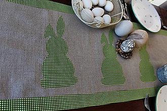 Úžitkový textil - obrus zelený zajko - 9204477_