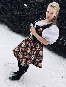 Iné oblečenie - Kvetovaná sukňa - 9204180_