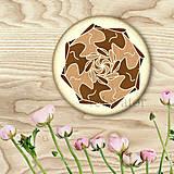 Dekorácie - Ozdoba na koláčik mandala coffee art - 9201974_