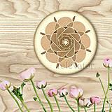 Dekorácie - Ozdoba na koláčik mandala coffee art - 9202498_