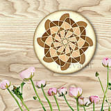 Dekorácie - Ozdoba na koláčik mandala coffee art - 9202682_