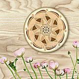 Dekorácie - Ozdoba na koláčik mandala coffee art - 9203780_