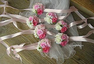 Náramky - svadobný kvetinový náramok - 9203711_