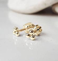 Náušnice - Legendary gold dots - 9209078_