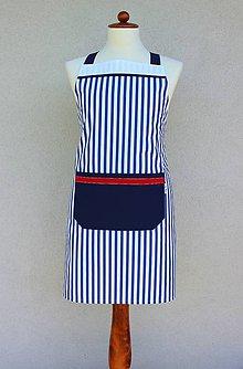 Detské oblečenie - zásterka chlapčenská Námorník - 9205940_