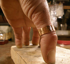Šperky - medená obrúčka na palec - 9209425_