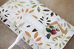 Papiernictvo - Scrapbook obálka na peniaze NATUR - 9208520_