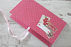 Papiernictvo - Scrapbook obálka na peniaze - bodky - 9208530_