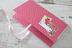 Papiernictvo - Scrapbook obálka na peniaze - bodky - 9208531_
