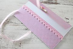Papiernictvo - Scrapbook obálka na peniaze - ružová - 9208548_