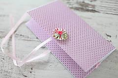Papiernictvo - Scrapbook obálka na peniaze - ružová - 9208549_