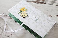 Papiernictvo - Scrapbook obálka na peniaze - jarná - 9208574_