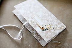 Papiernictvo - Scrapbook obálka na peniaze - ornament - 9208583_