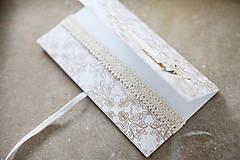 Papiernictvo - Scrapbook obálka na peniaze - ornament - 9208584_