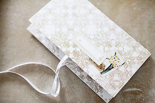 Scrapbook obálka na peniaze - ornament