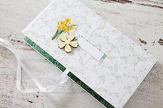Papiernictvo - Scrapbook obálka na peniaze - jarná - 9208573_
