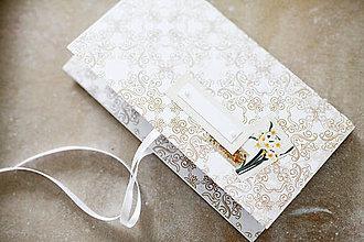 Papiernictvo - Scrapbook obálka na peniaze - ornament - 9208582_