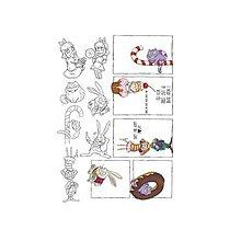 Papier - Papier A4 na vyfarbenie - Alice in Candyland by Olga Heldwein - 9208296_