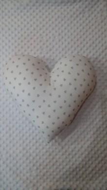 Úžitkový textil - vankúš srdce (Biela) - 9209134_