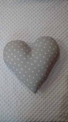 Úžitkový textil - vankúš srdce (Šedá) - 9209144_