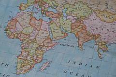 - Obliečka na vankúš Svetová mapa - 9210132_