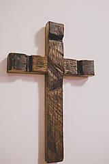 Dekorácie - Kríž zo starého dubového sudu. - 9206610_