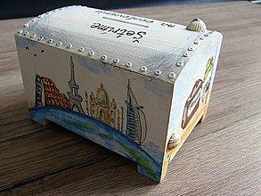 Krabičky - pokladnička OKOLO SVETA - 9207567_