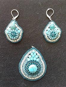Sady šperkov - sada Tyrkys - 9206796_