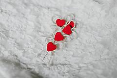 """Pierka - """"Valentínske"""" srdiečkové pierka - 9207202_"""
