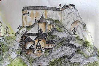Kresby - Oravský hrad - 9207741_