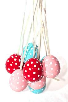 Iné doplnky - Veľkonočné bodkované keramické vajcia - 9206148_