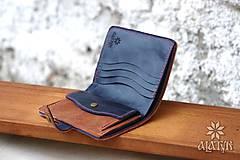 Peňaženky - Kožená peňaženka aj na veľké doklady V.a - 9209505_