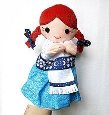 Hračky - Maňuška folk dievčinka - Vierka - 9206353_