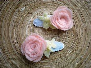 Detské doplnky - Dievčenské pukačky L (pastelová ruža) - 9207437_