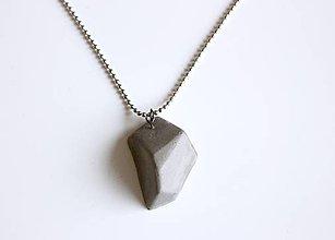 Náhrdelníky - Betónový náhrdelník meteorit natur - 9209371_