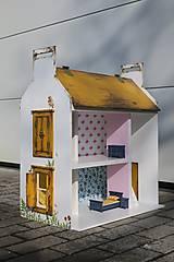 Hračky - domček pre bábiky okrový - 9205924_