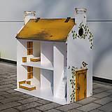 Hračky - domček pre bábiky okrový - 9205931_