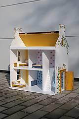 Hračky - domček pre bábiky okrový - 9205934_