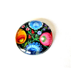 Komponenty - folklorny kaboson - cierna zahrada - 20mm - 9209918_