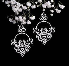 Náušnice - Náušnice holubičky - Slovenská ornamentika - 9206087_
