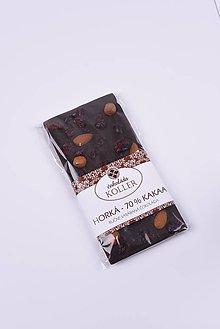Potraviny - Horká čokoláda s brusnicami, mandľami a lieskovcami - 9206890_