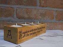 Svietidlá a sviečky - Stojan na 4 svičky - Requiem aeternam - 9208748_