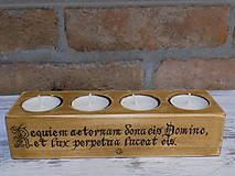 Svietidlá a sviečky - Stojan na 4 svičky - Requiem aeternam - 9208751_