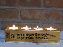 Svietidlá a sviečky - Stojan na 4 svičky - Requiem aeternam - 9208752_